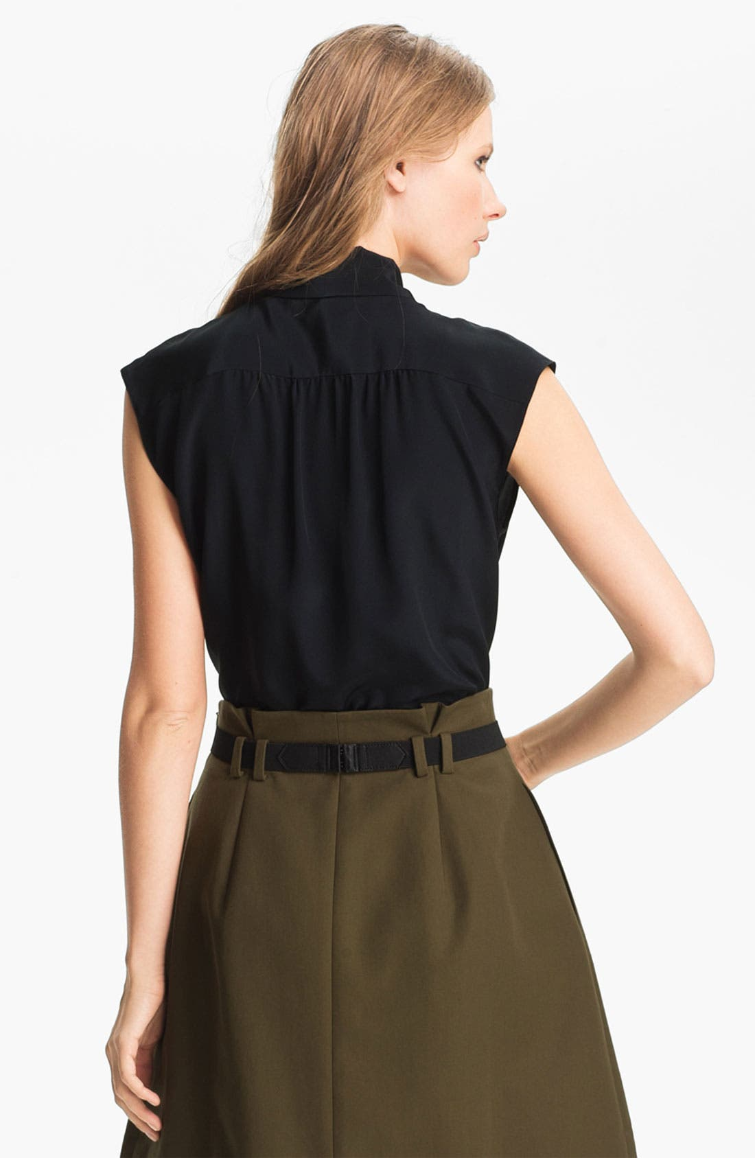 Alternate Image 3  - Miss Wu Tie Neck Crêpe de Chine Blouse (Nordstrom Exclusive)