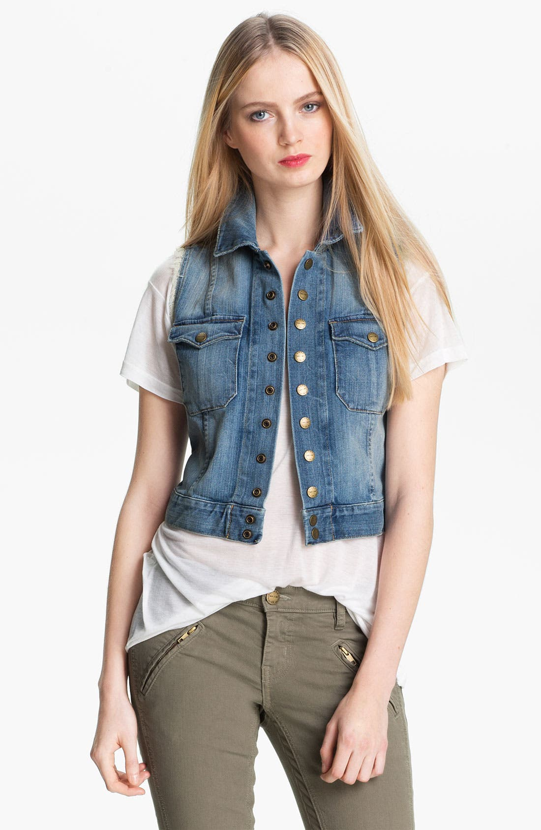 Alternate Image 1 Selected - Current/Elliott Denim Vest