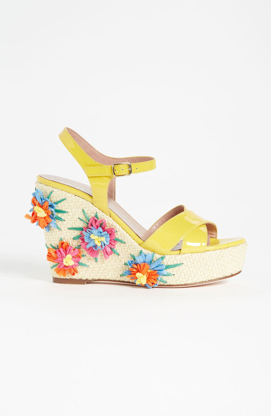 Alternate Image 4  - RED Valentino Embroidered Wedge