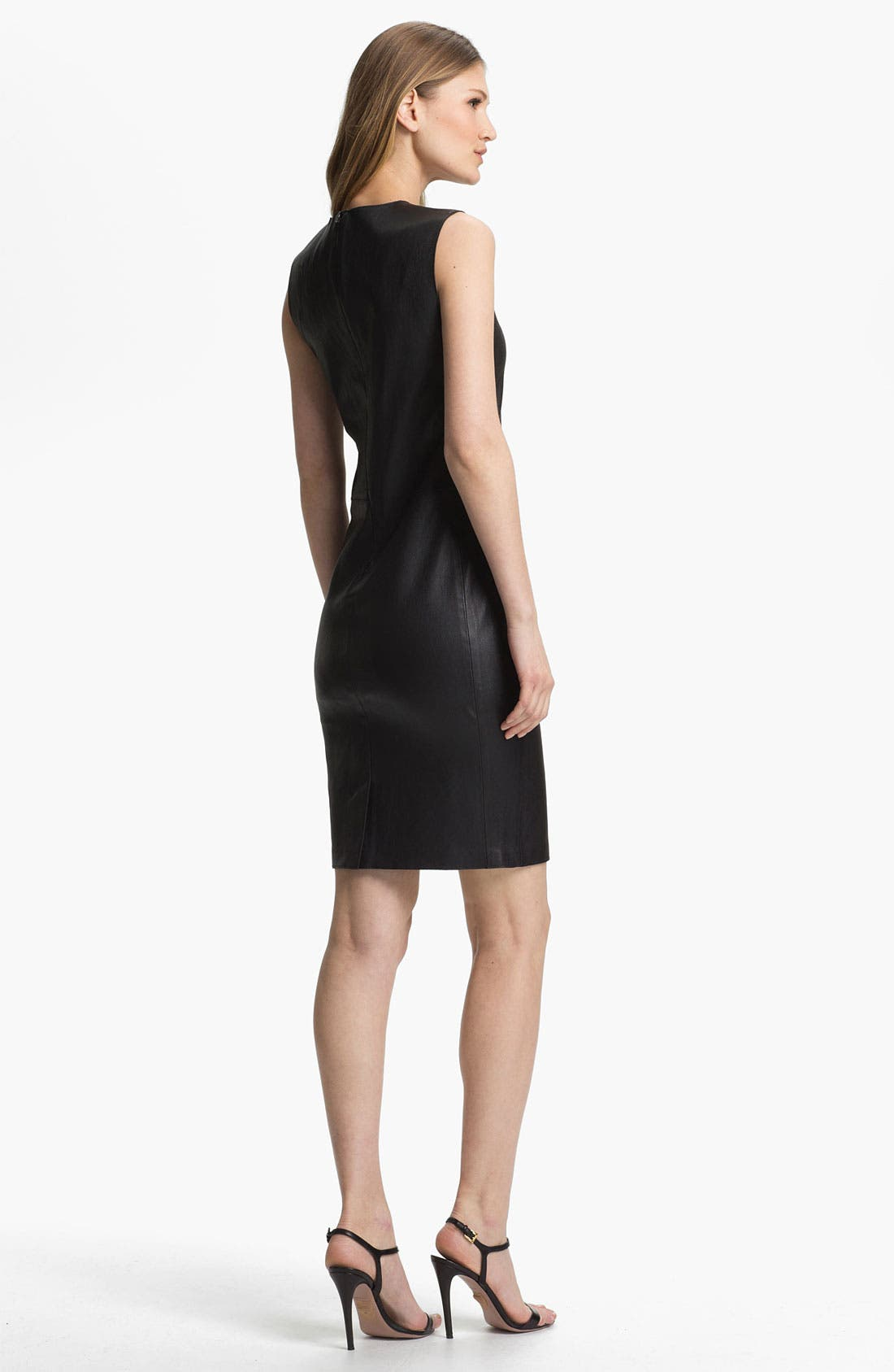 Alternate Image 2  - Vince Stretch Leather Dress