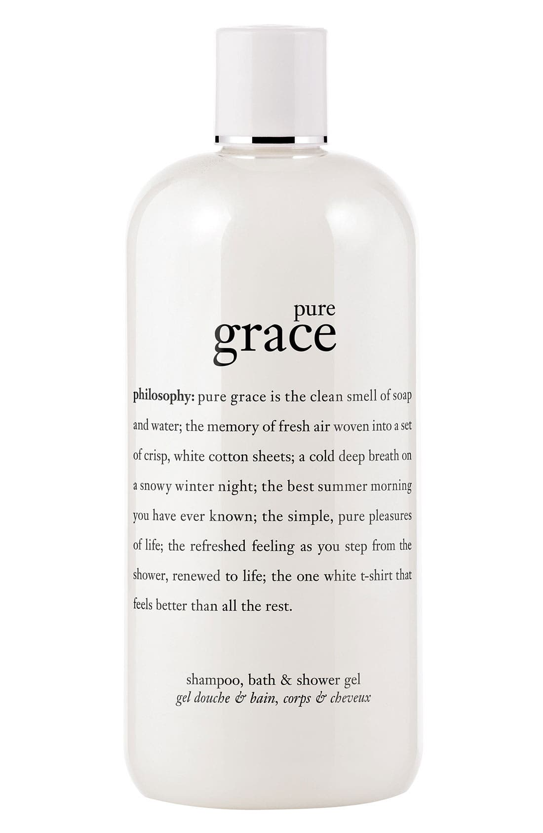 philosophy 'pure grace' shampoo, bath & shower gel