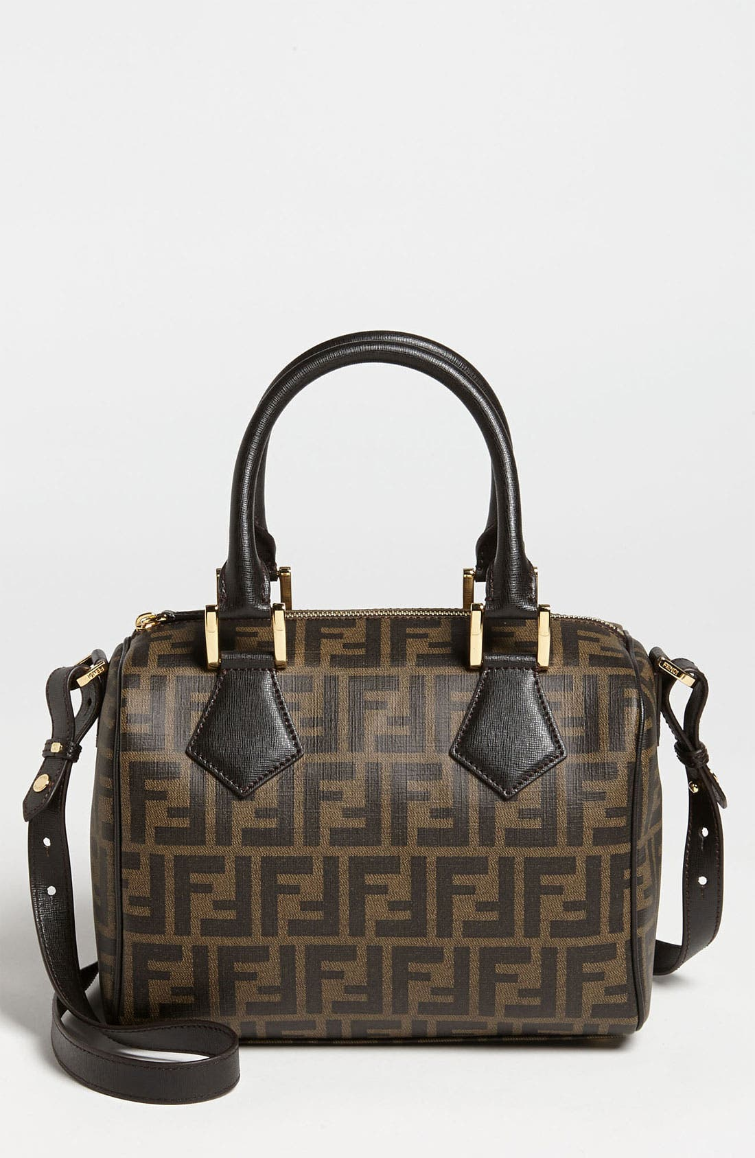 Alternate Image 1 Selected - Fendi 'Zucca - Small' Boston Bag