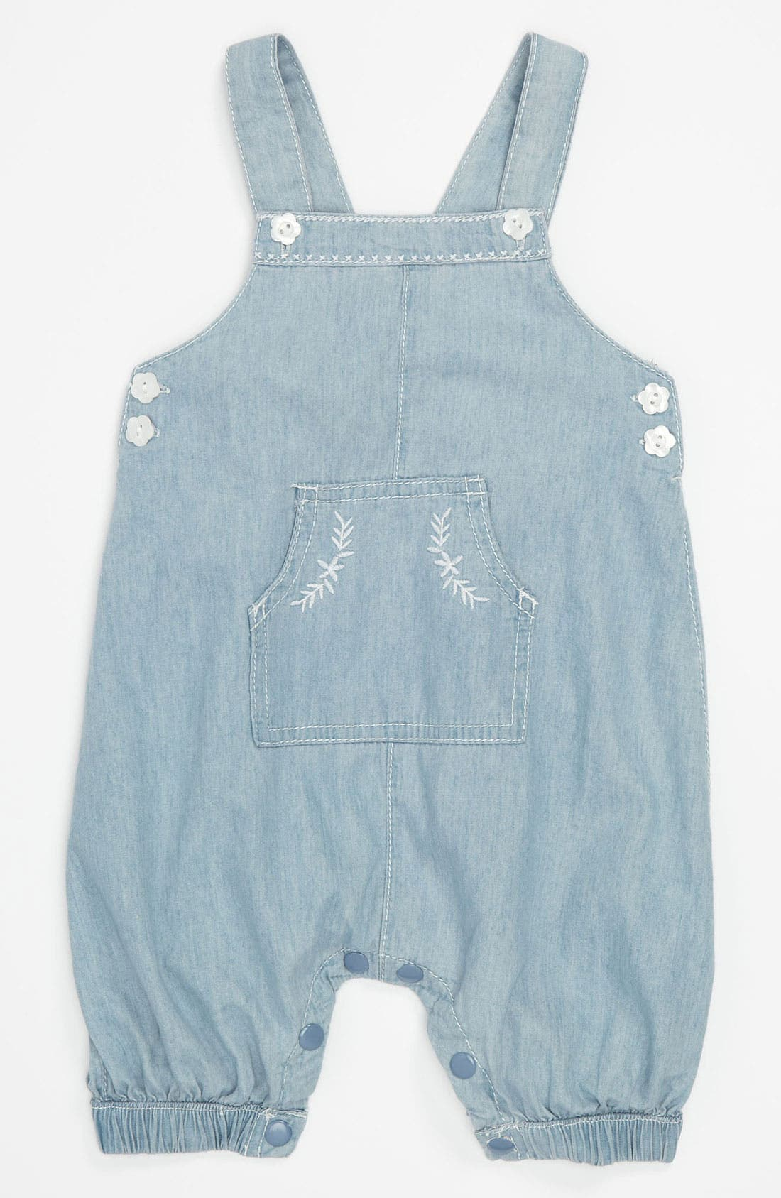 Alternate Image 1 Selected - Pumpkin Patch 'Vintage Dungaree' Denim Overalls (Infant)