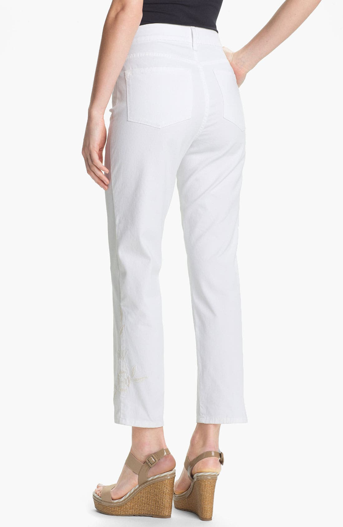 Alternate Image 3  - NYDJ 'Alisha' Embroidered Skinny Stretch Ankle Jeans