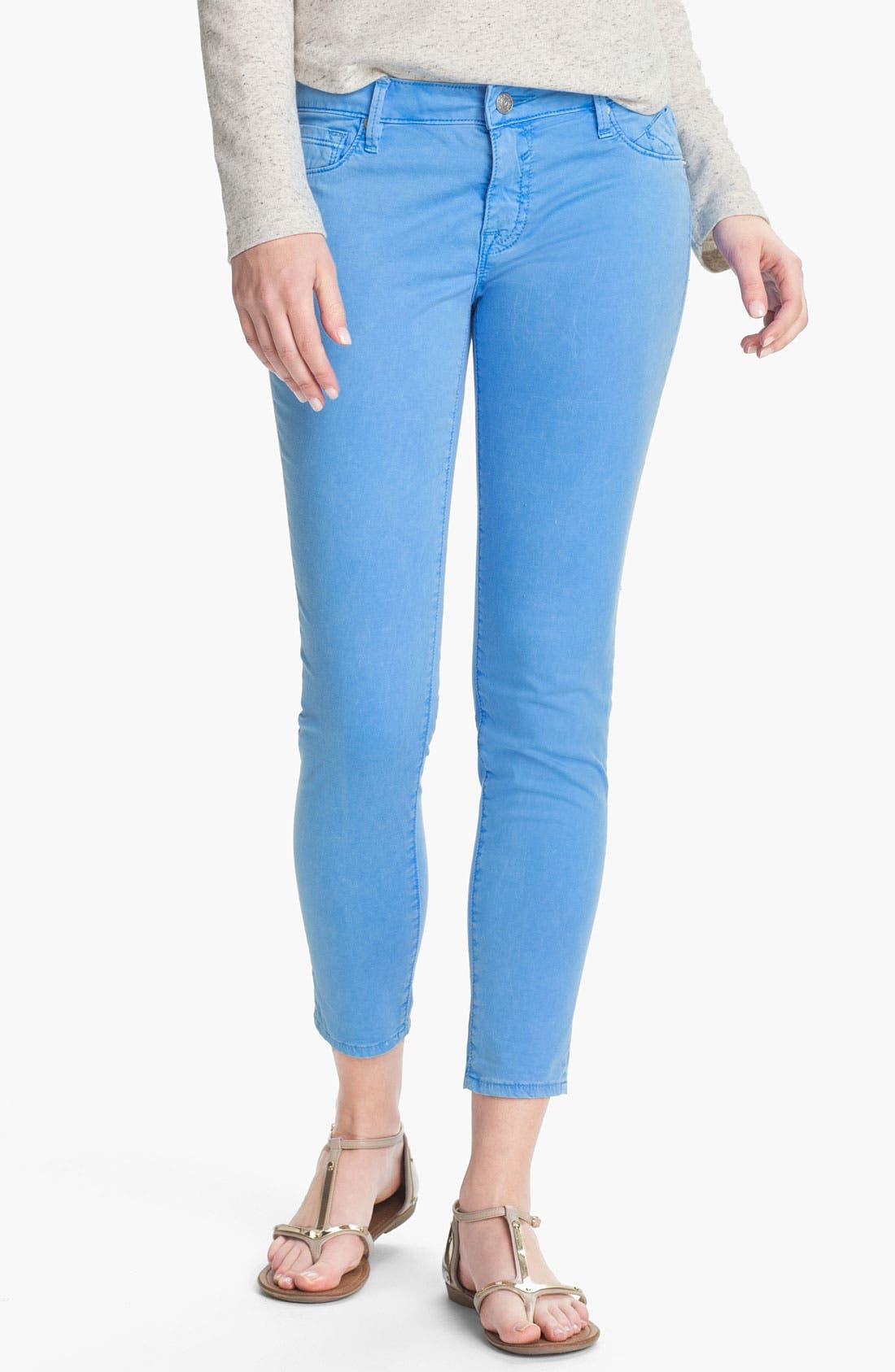 Alternate Image 2  - Vigoss Skinny Crop Jeans (Juniors)