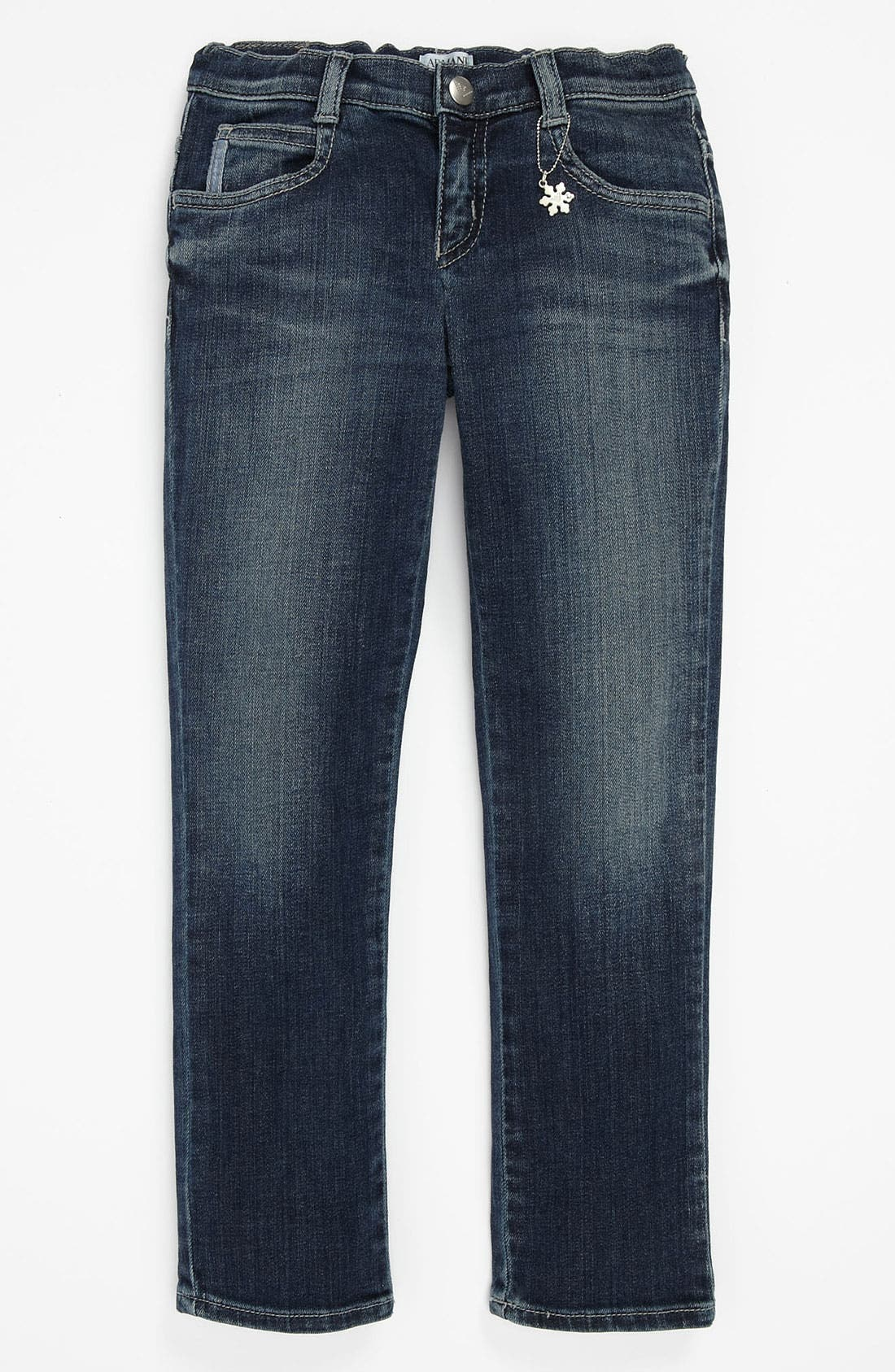 Alternate Image 2  - Armani Junior Super Slim Jeans (Toddler & Little Girls)