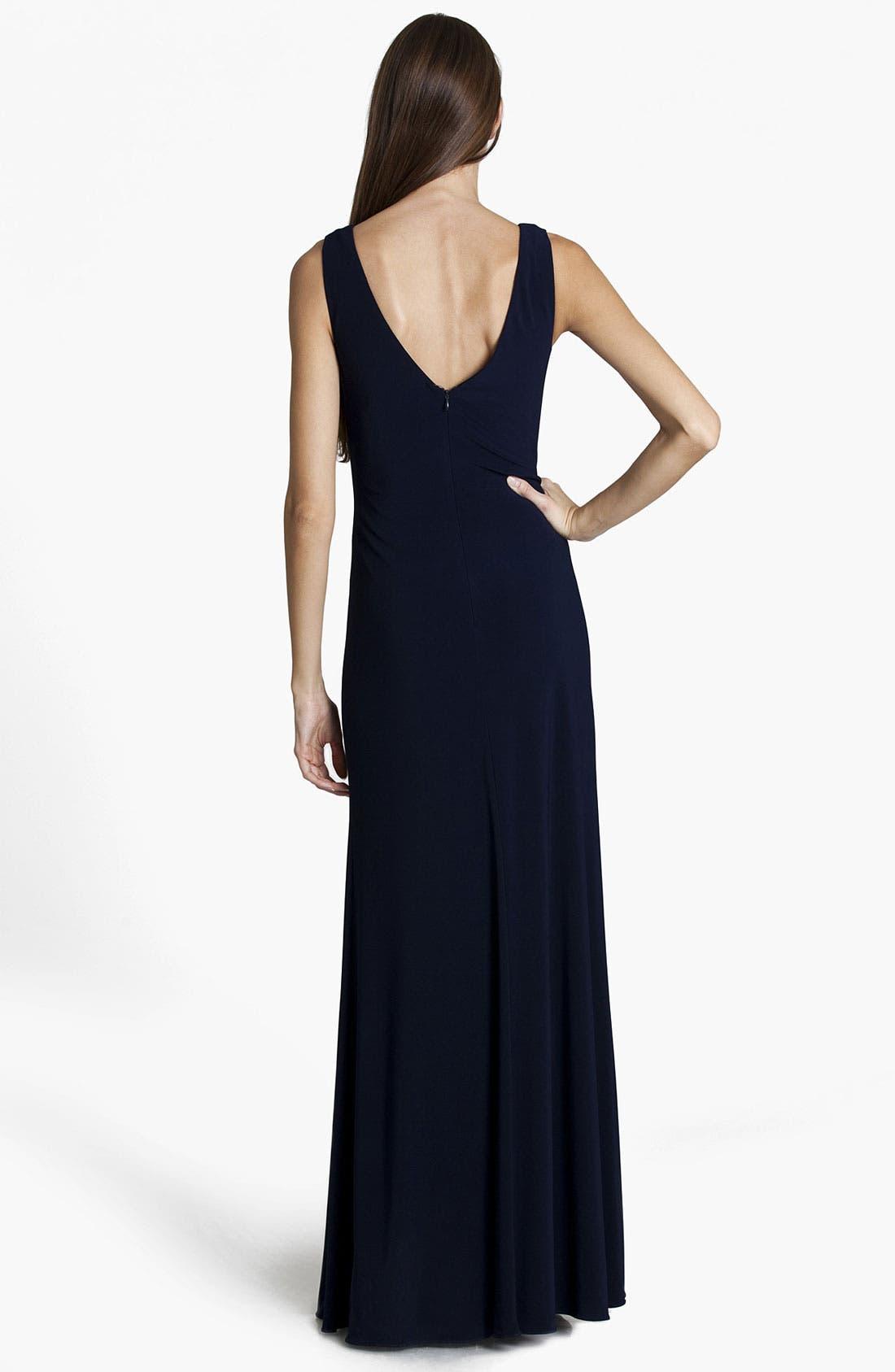 Alternate Image 2  - JS Boutique Embellished V-Neck Gown