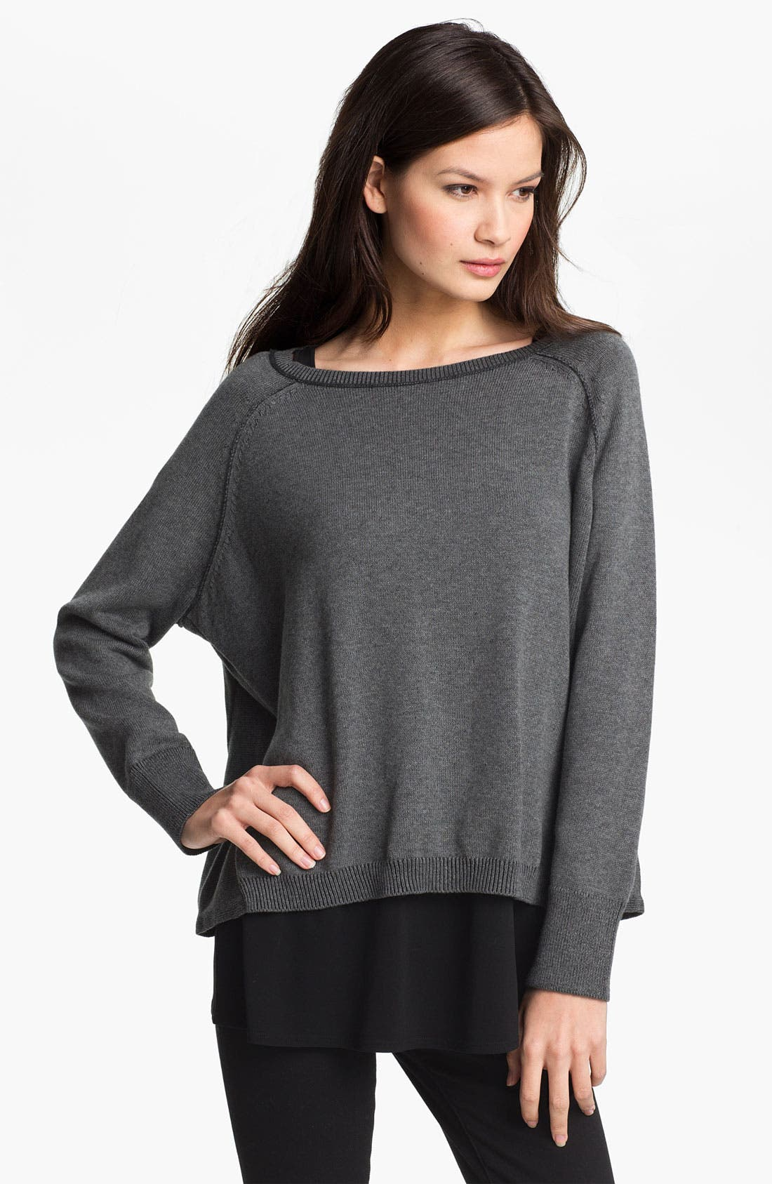 Alternate Image 1 Selected - Eileen Fisher Boxy Organic Cotton Top (Online Exclusive)