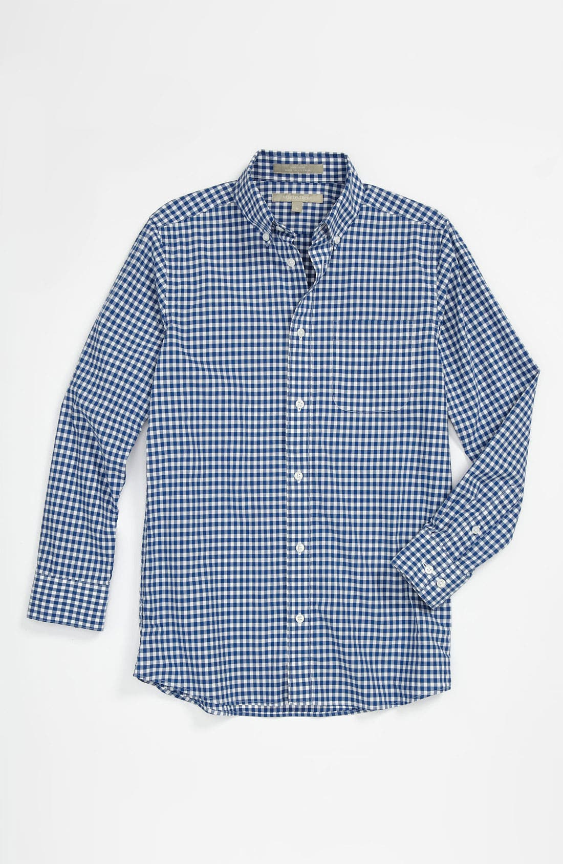 Main Image - Nordstrom Gingham Dress Shirt (Big Boys)