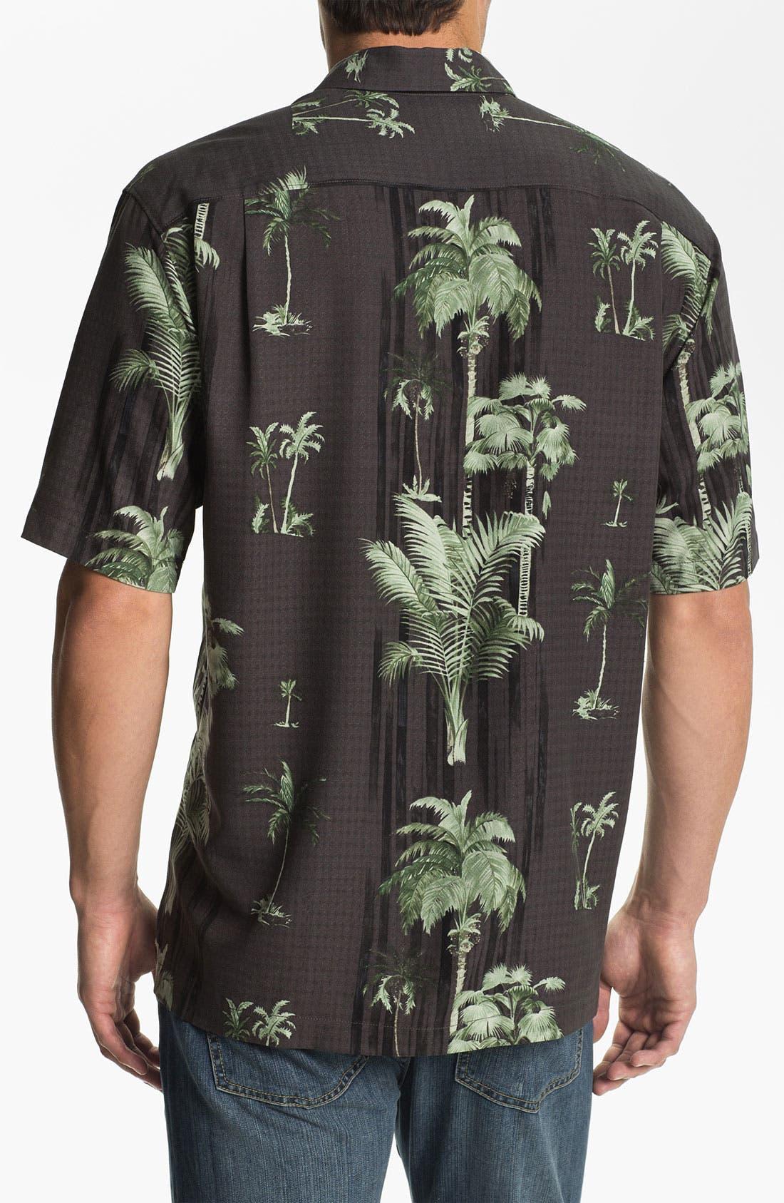 Alternate Image 2  - Tommy Bahama 'Peeping Palm' Silk Campshirt