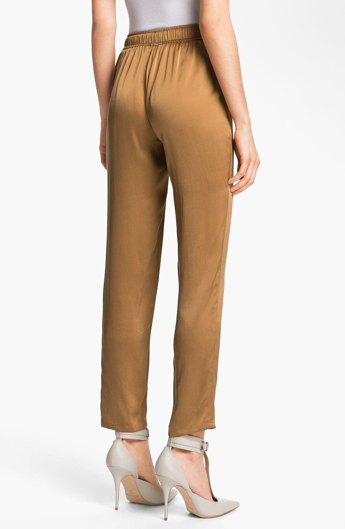 Alternate Image 2  - Elizabeth and James 'Gessler' Drawstring Silk Pants
