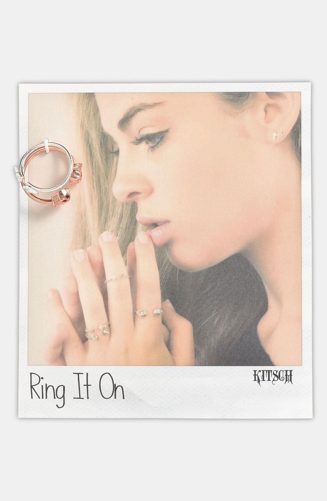 Main Image - Kitsch 'Ring It On' Adjustable Rings