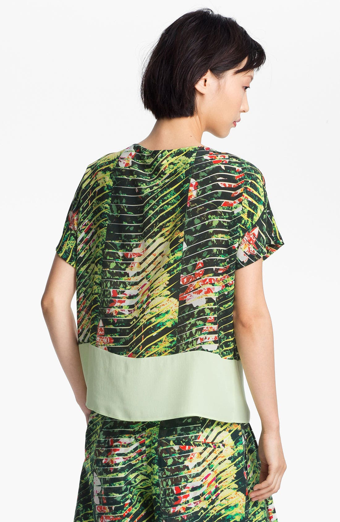 Alternate Image 3  - KENZO Orchid Print Crepe Top