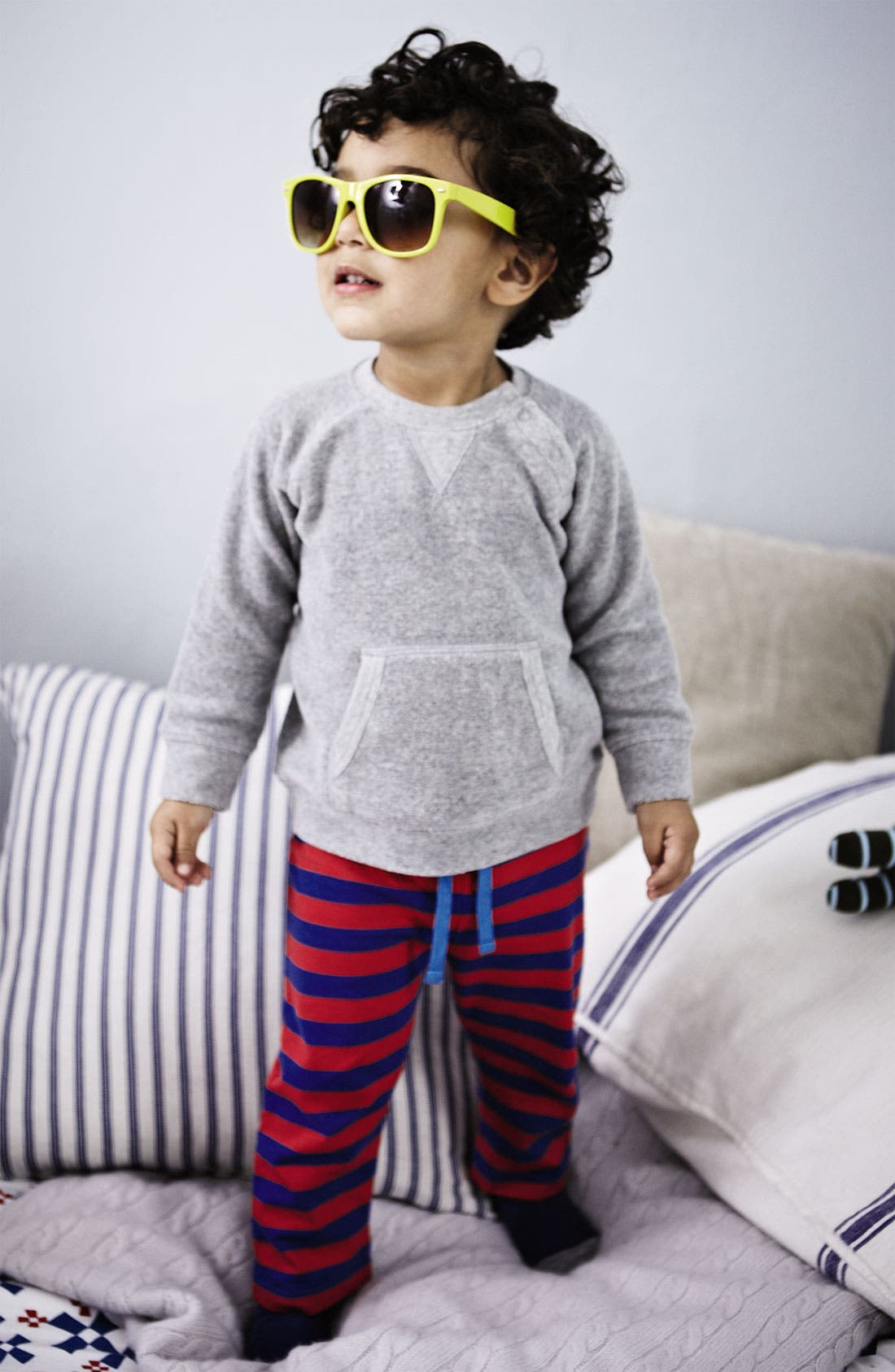 Alternate Image 2  - Mini Boden 'Toweling' Sweater (Baby)