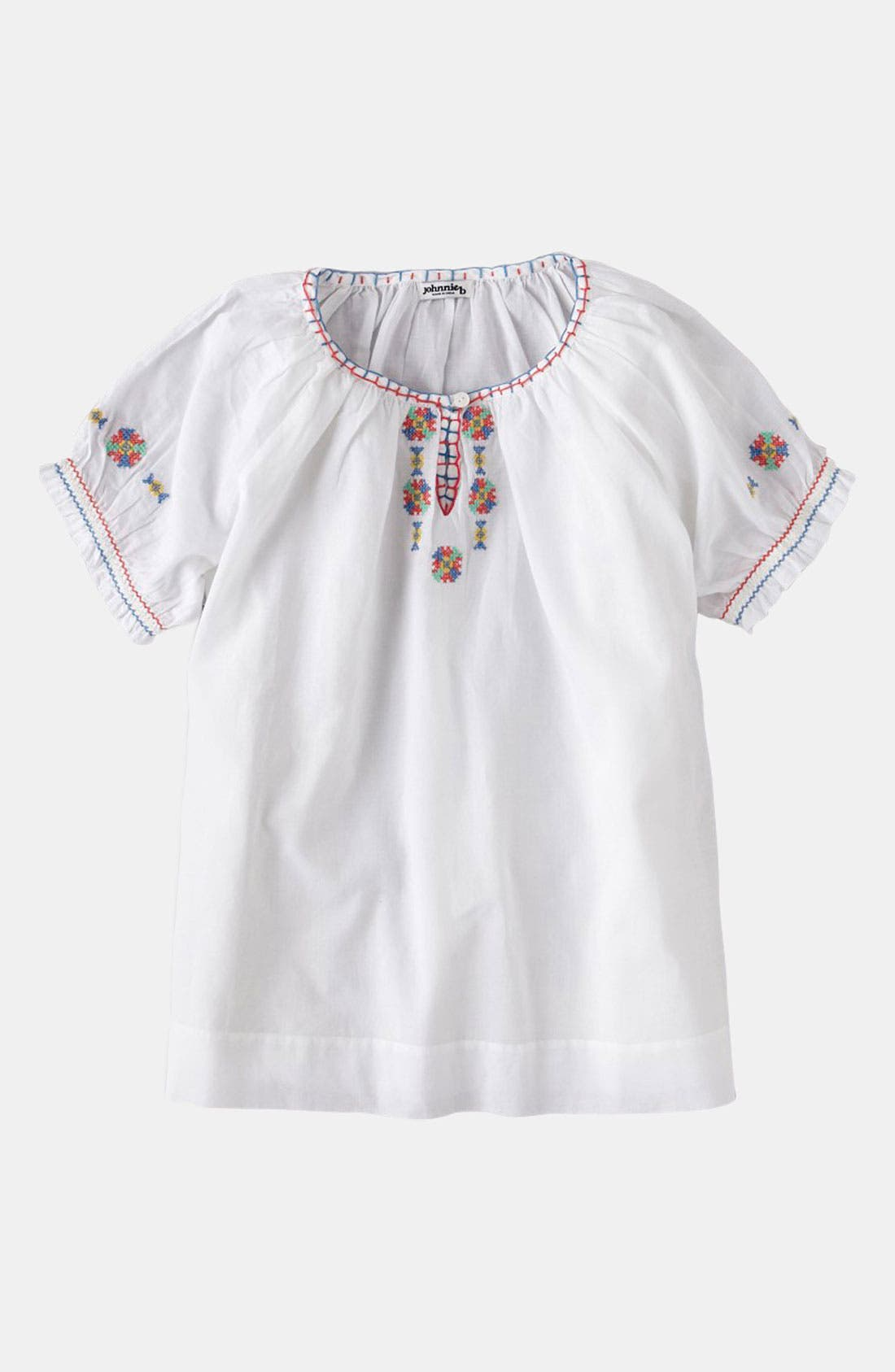 Main Image - Johnnie B by Boden Peasant Top (Big Girls)