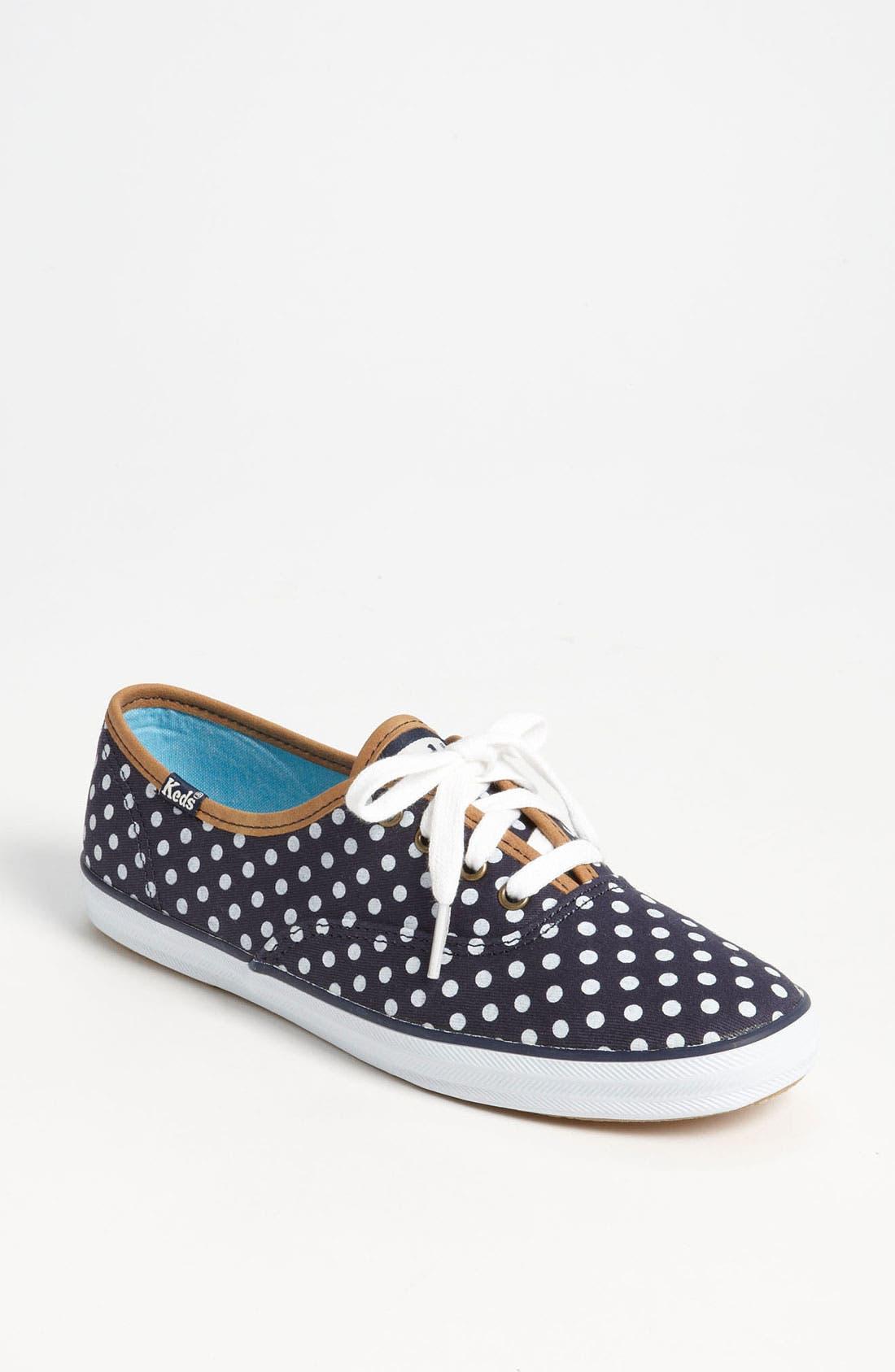 'Champion - Dot' Sneaker,                             Main thumbnail 1, color,                             Navy/ White