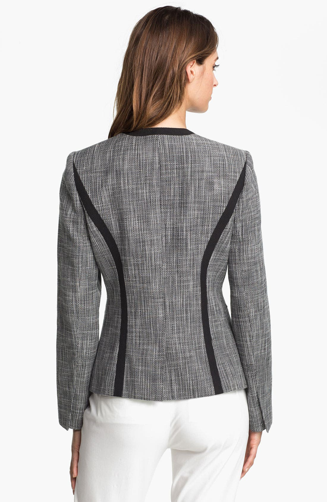 Alternate Image 2  - Calvin Klein Open Front Woven Jacket