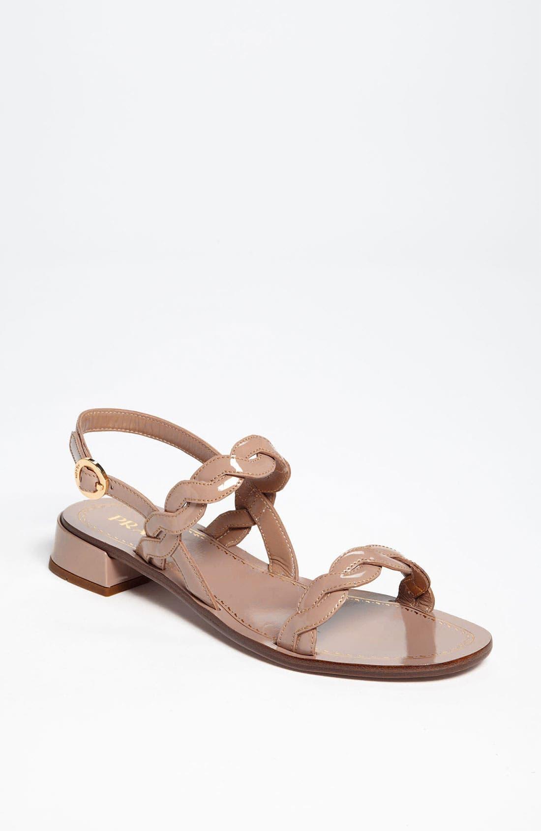 Main Image - Prada Braided Two Strap Sandal