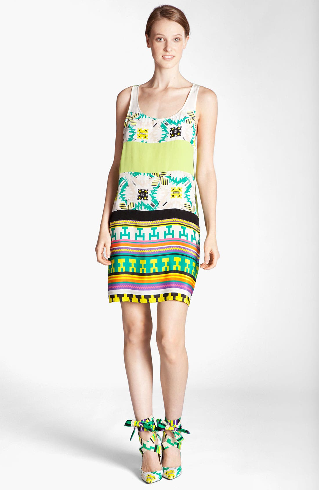 Main Image - MSGM 'Memphis Print' Silk Tank Dress