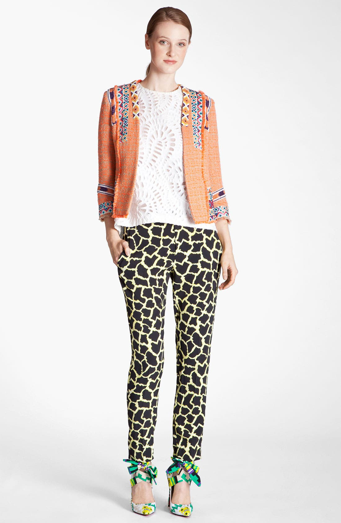 Alternate Image 5  - MSGM Giraffe Print Straight Leg Pants