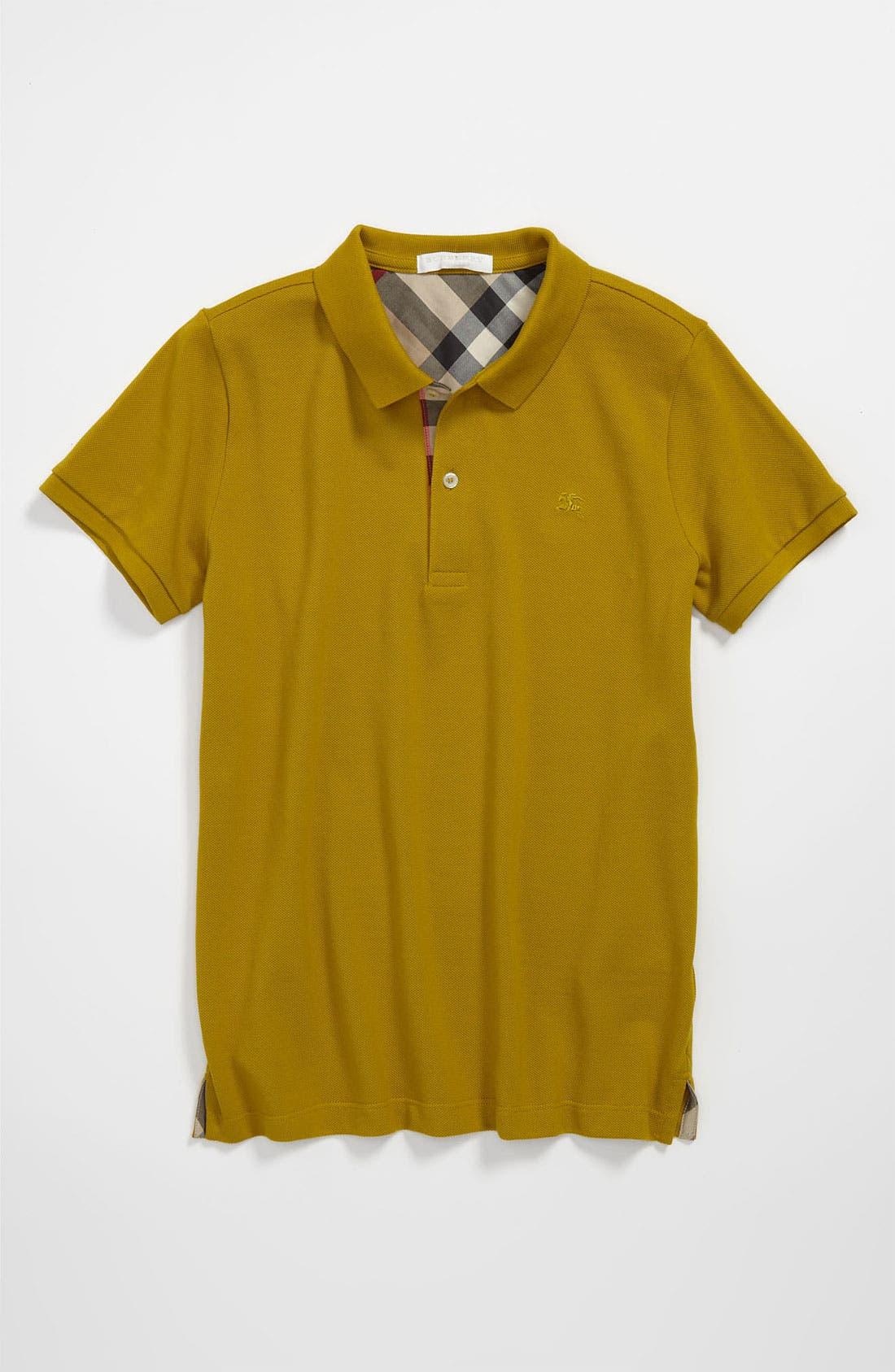 Main Image - Burberry Polo Shirt (Little Boys & Big Boys)