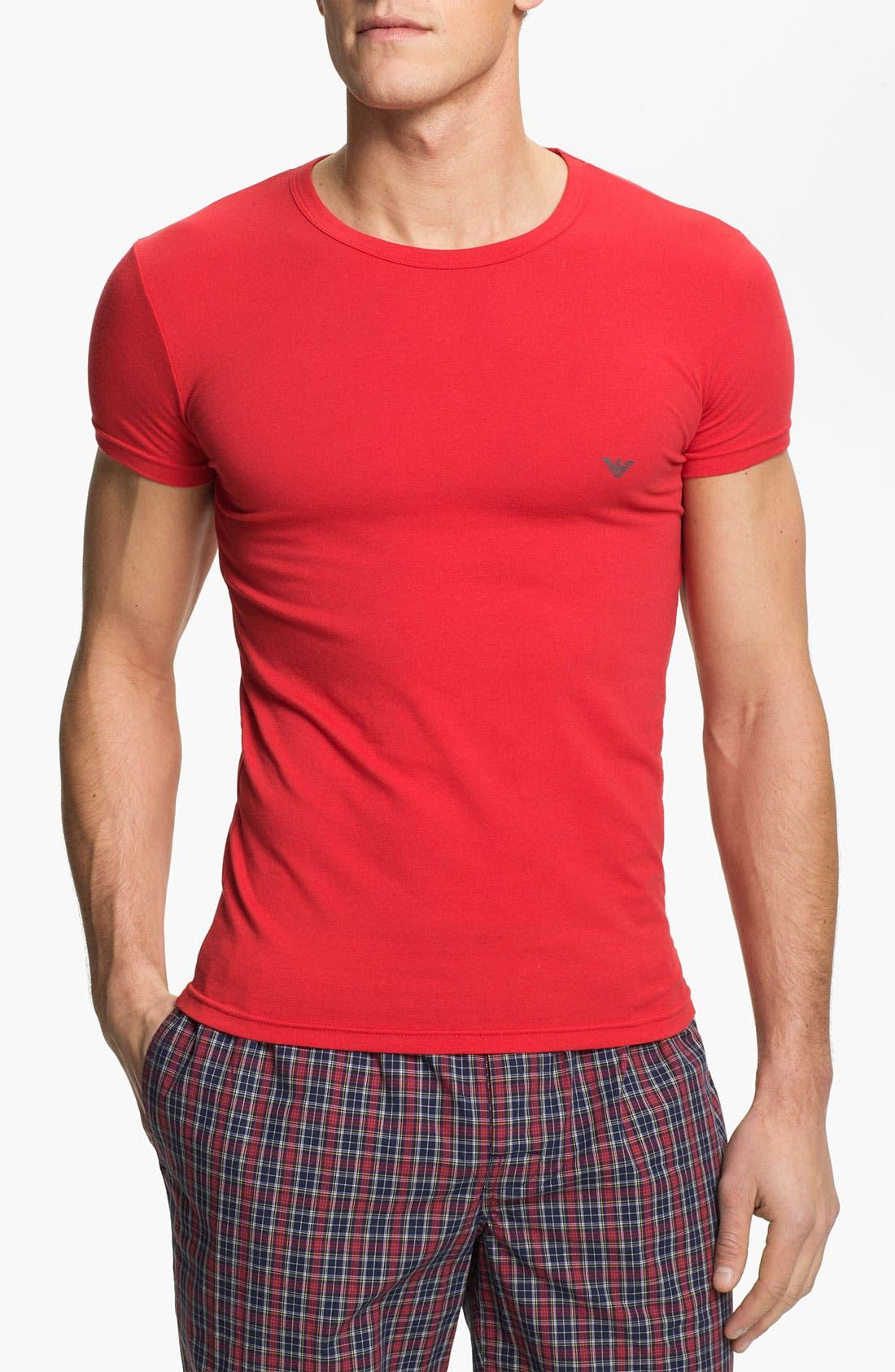 Alternate Image 1 Selected - Emporio Armani 'Eagle' Stretch Cotton Crewneck T-Shirt