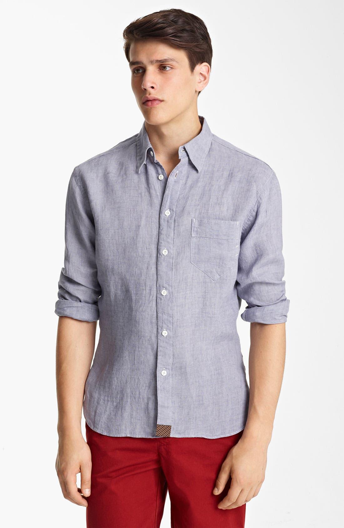 Alternate Image 1 Selected - Billy Reid 'Walland' Linen Shirt