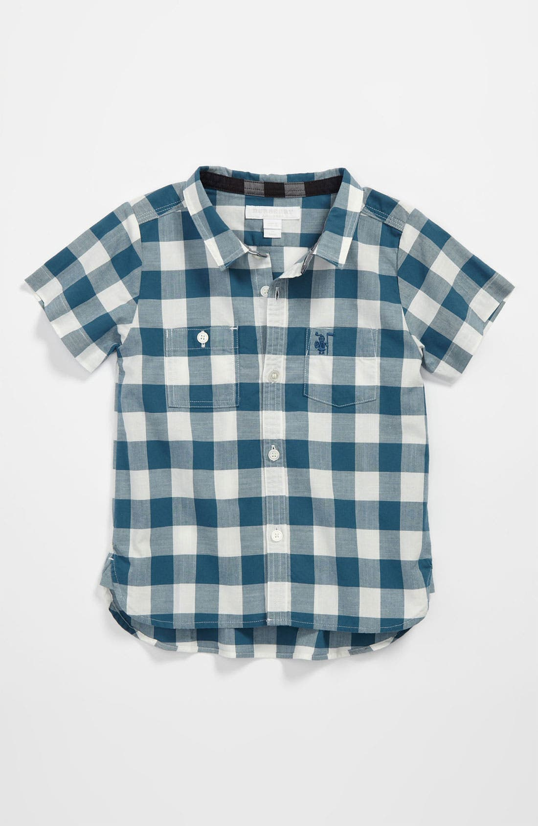 Alternate Image 1 Selected - Burberry 'Mini Rex' Woven Shirt (Baby)