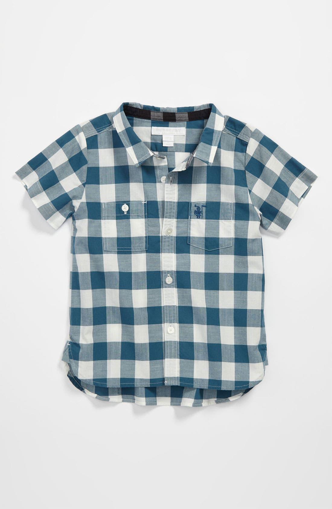 Main Image - Burberry 'Mini Rex' Woven Shirt (Baby)