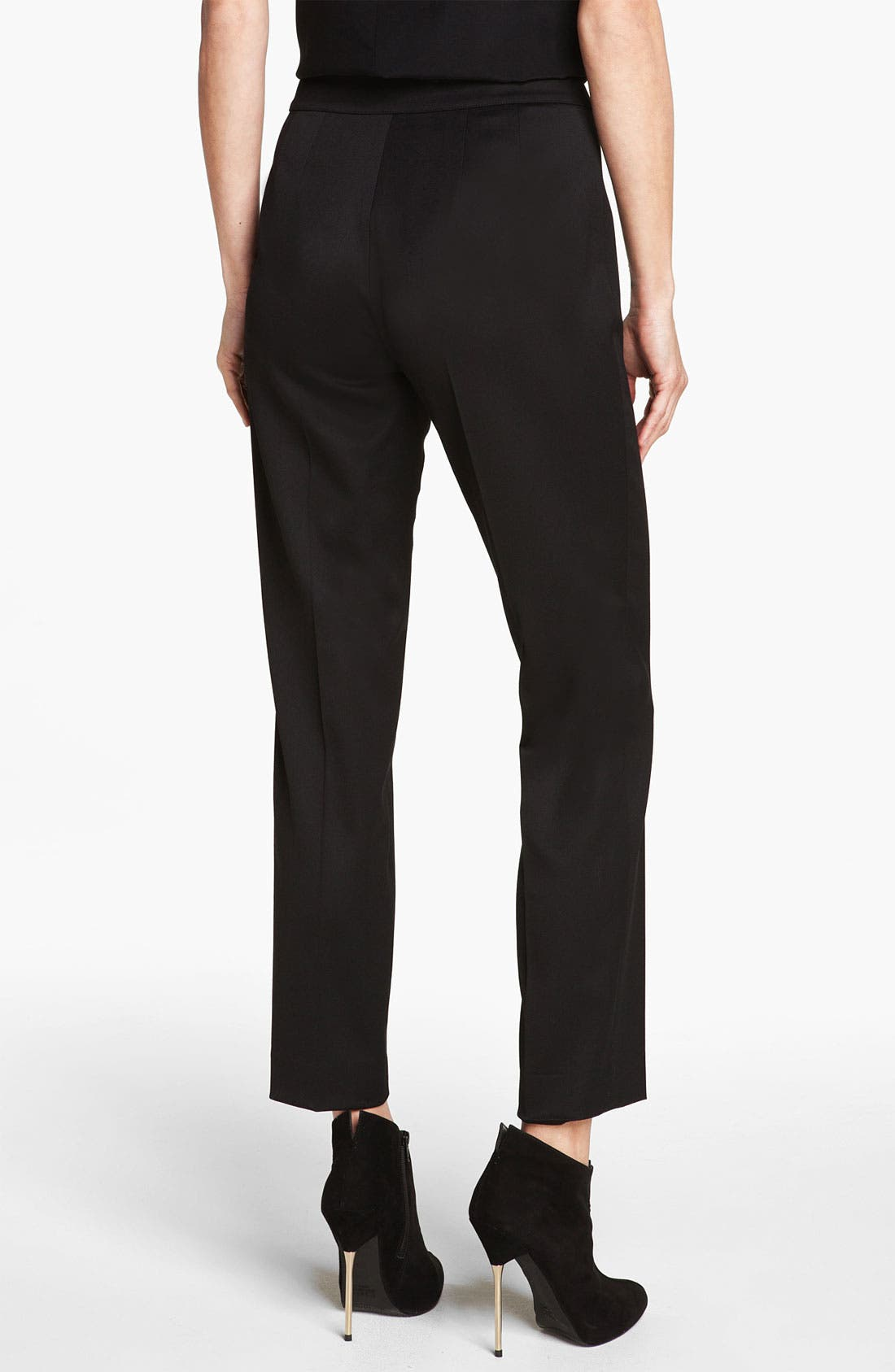 Alternate Image 2  - St. John Collection 'Emma' Stretch Venetian Wool Crop Pants