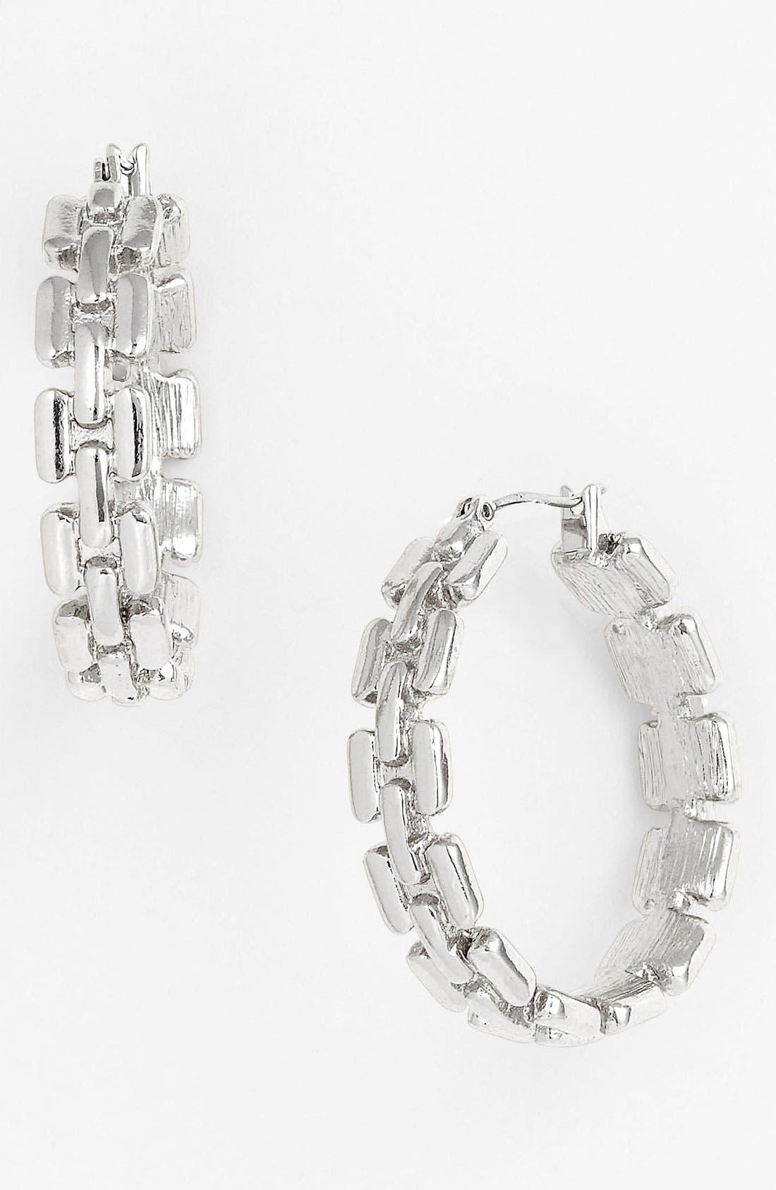 Alternate Image 1 Selected - Anne Klein Hoop Earrings