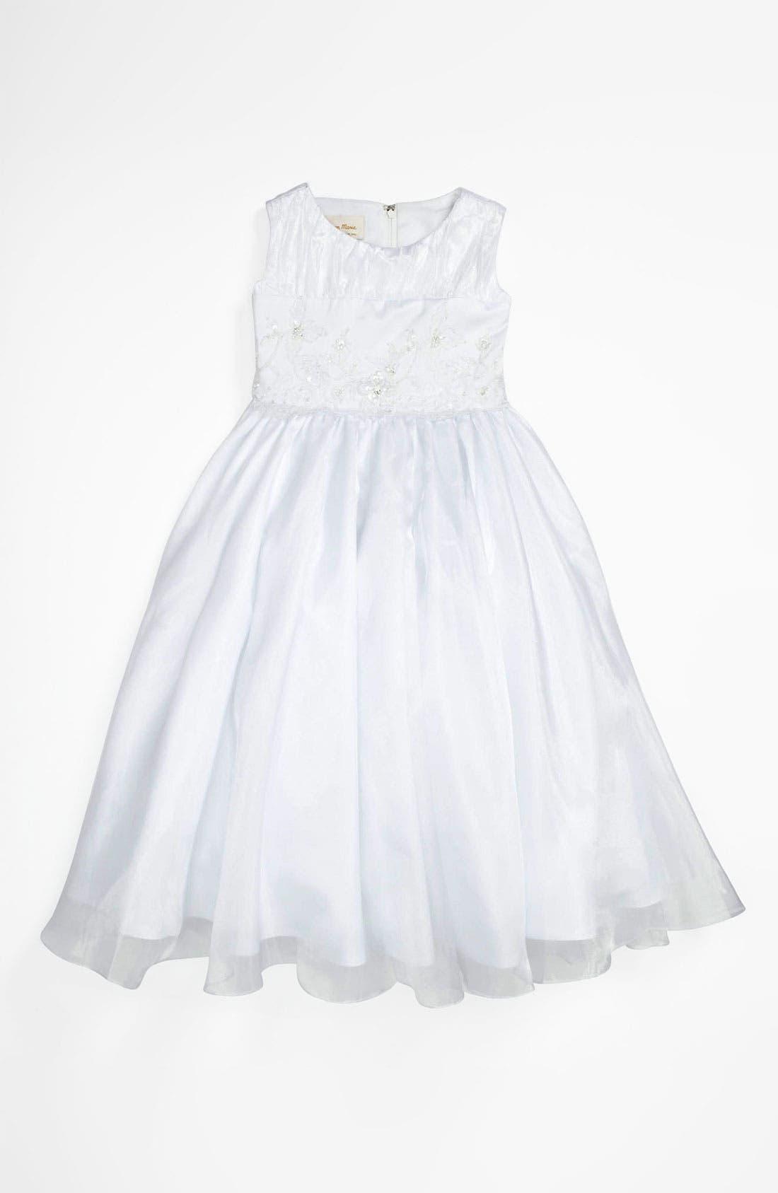 Alternate Image 1 Selected - Lauren Marie Embroidered Dress (Little Girls & Big Girls)