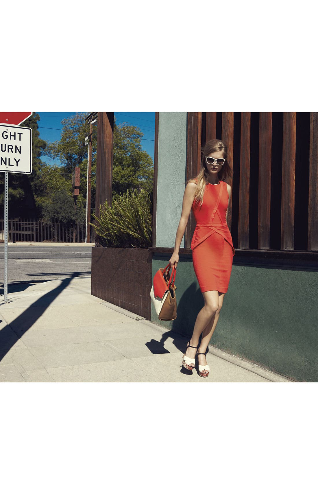 Alternate Image 1 Selected - BCBGMAXAZRIA Dress & Accessories