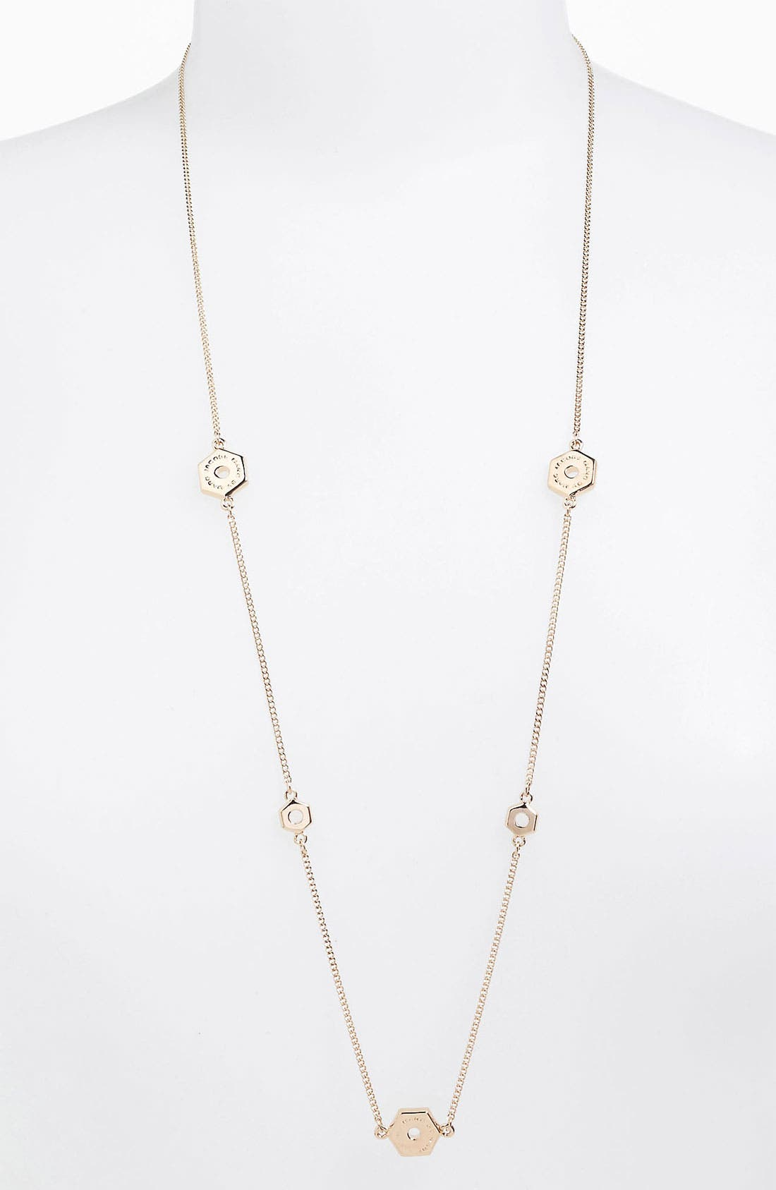Alternate Image 1 Selected - MARC BY MARC JACOBS 'Bolts' Long Station Necklace