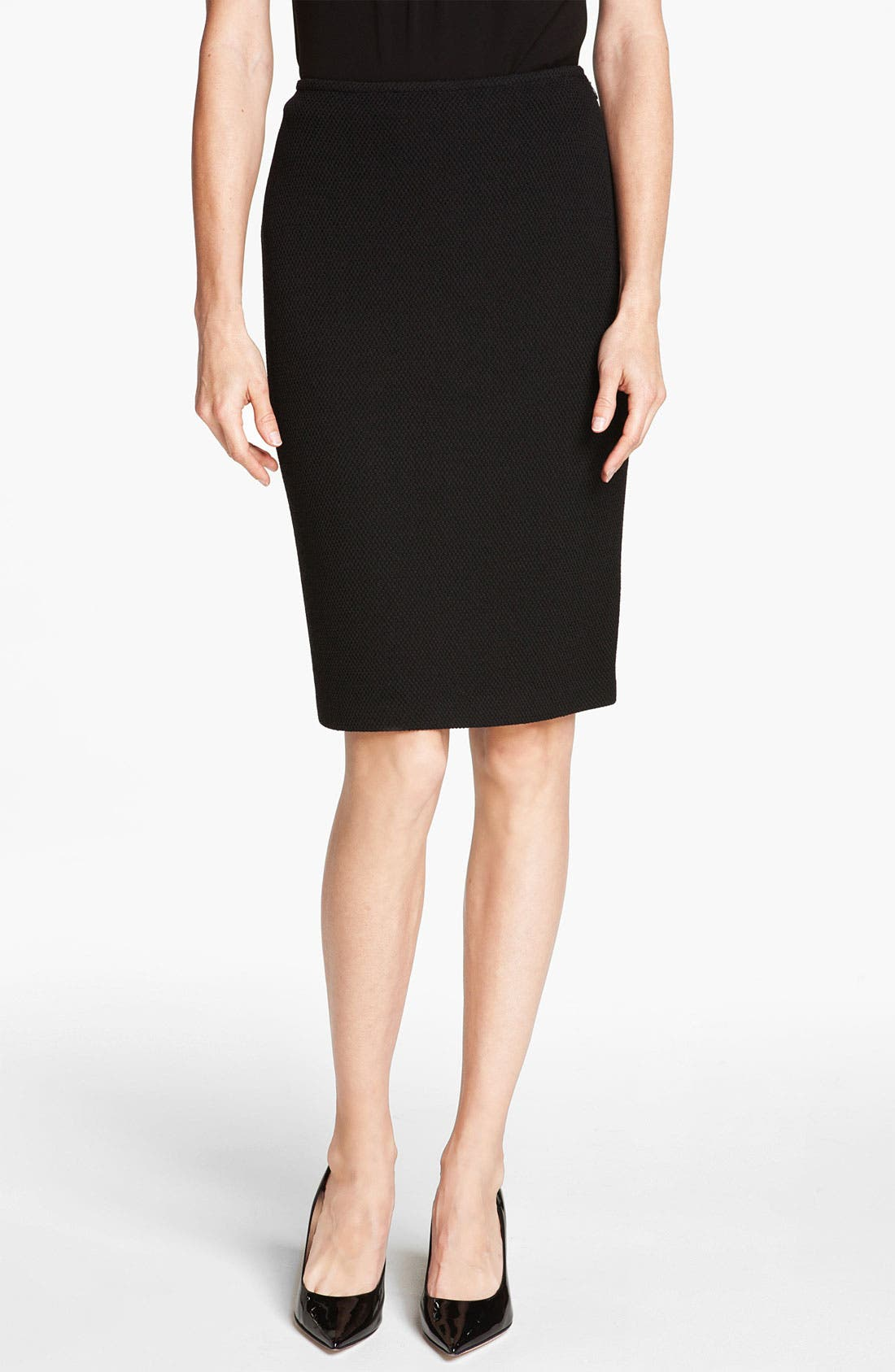 Main Image - St. John Collection Mod Piqué Pencil Skirt