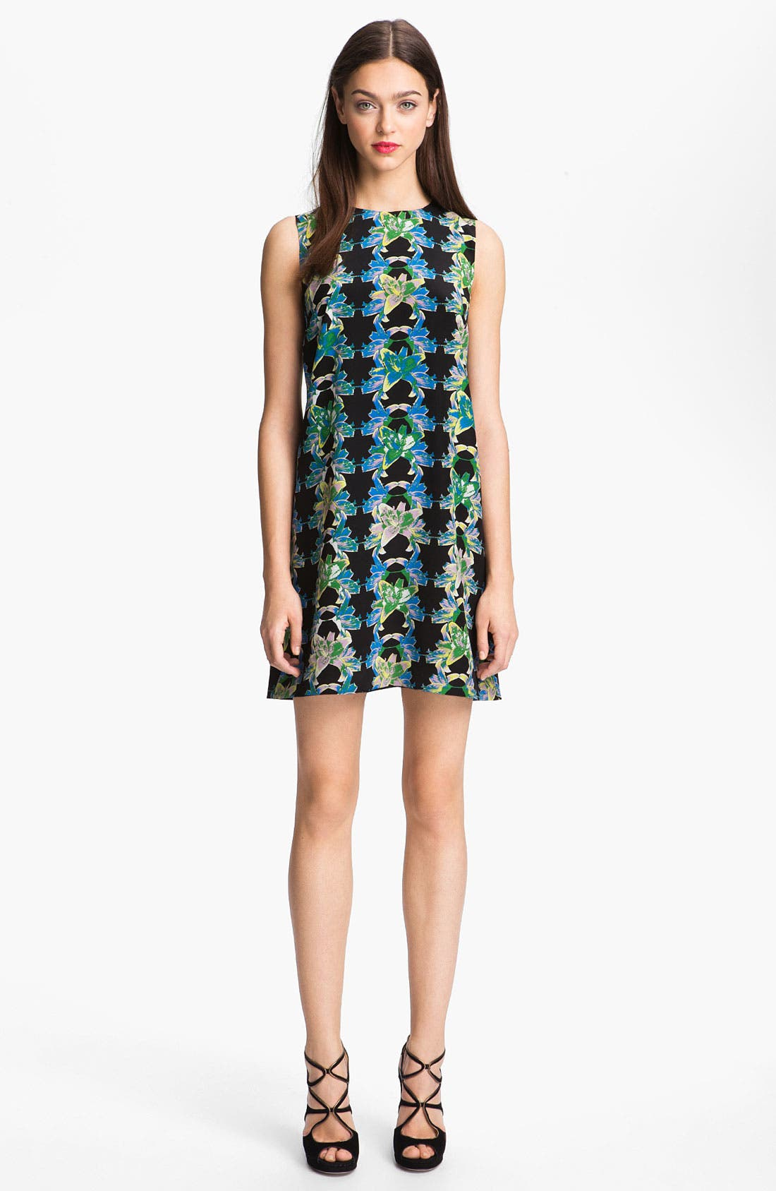 Main Image - M Missoni Print Silk Shift Dress