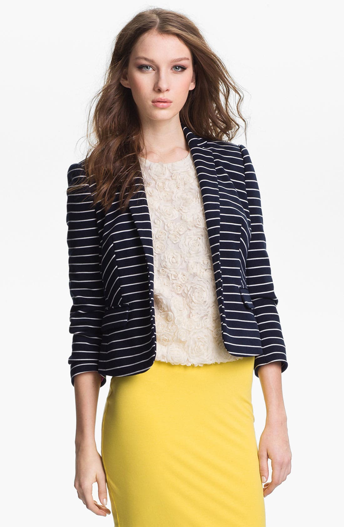 Alternate Image 2  - Vince Camuto Stripe Blazer