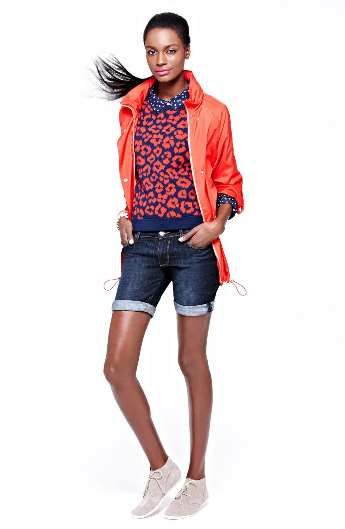 Main Image - Vince Camuto Jacket, Marc by Marc Jacobs Sweater & Paige Denim Shorts