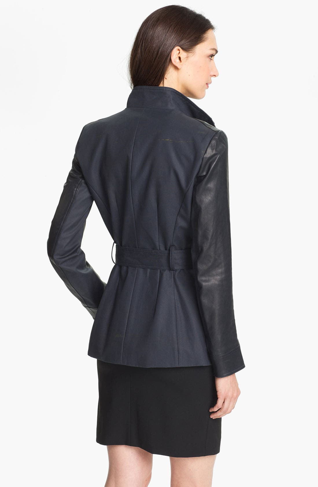 Alternate Image 2  - Theory 'Macaire L.' Cotton & Leather Jacket