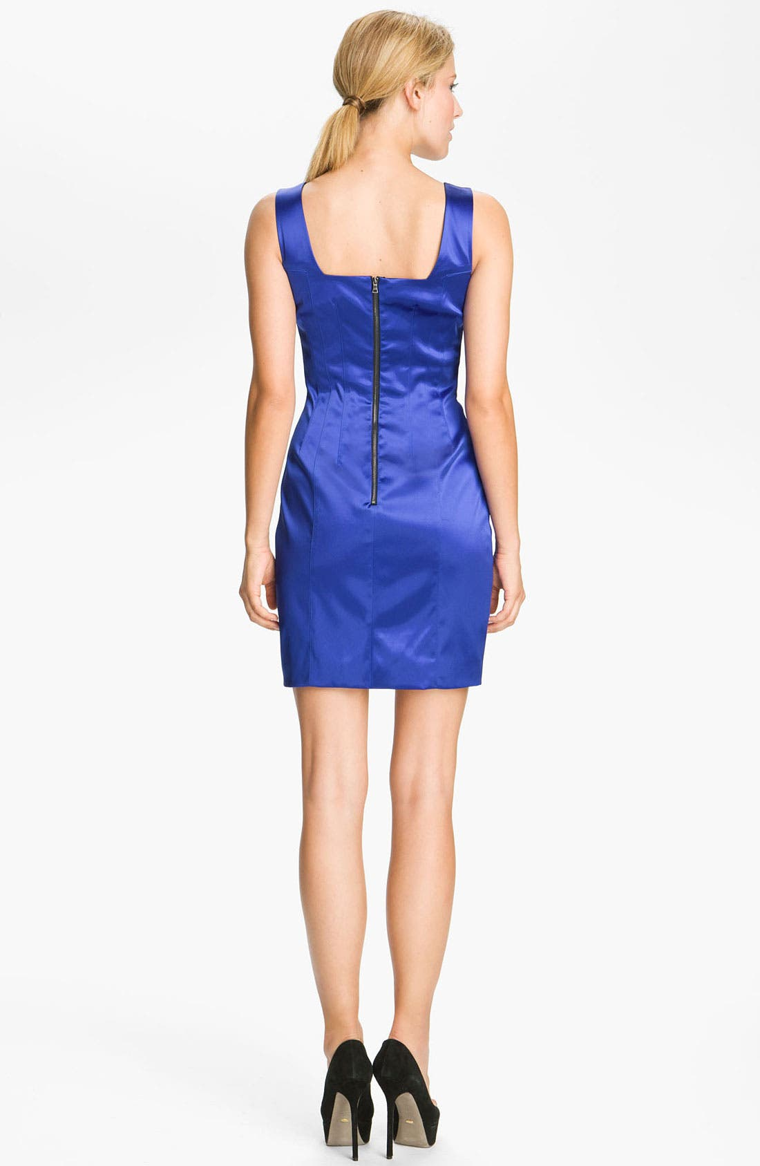 Alternate Image 2  - Jay Godfrey 'Stone' Stretch Satin Minidress (Nordstrom Exclusive)