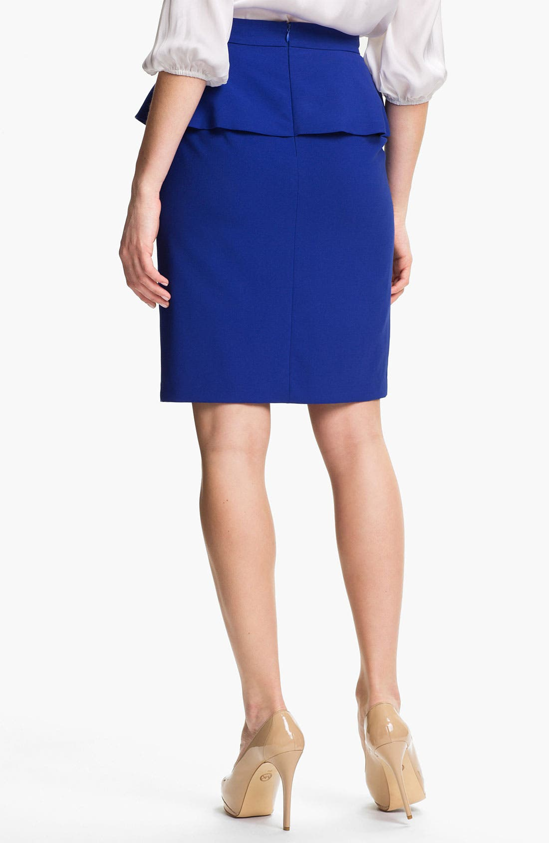 Alternate Image 2  - Vince Camuto Peplum Pencil Skirt
