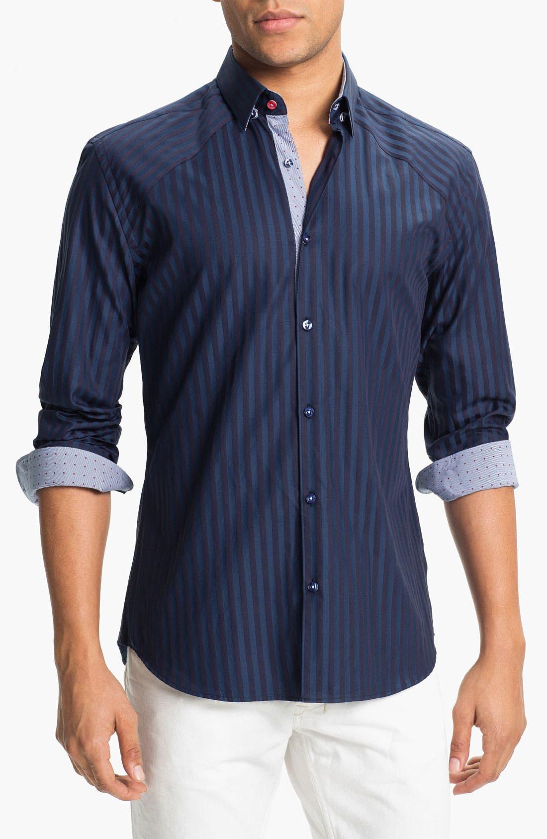 Main Image - Stone Rose Stripe Woven Shirt