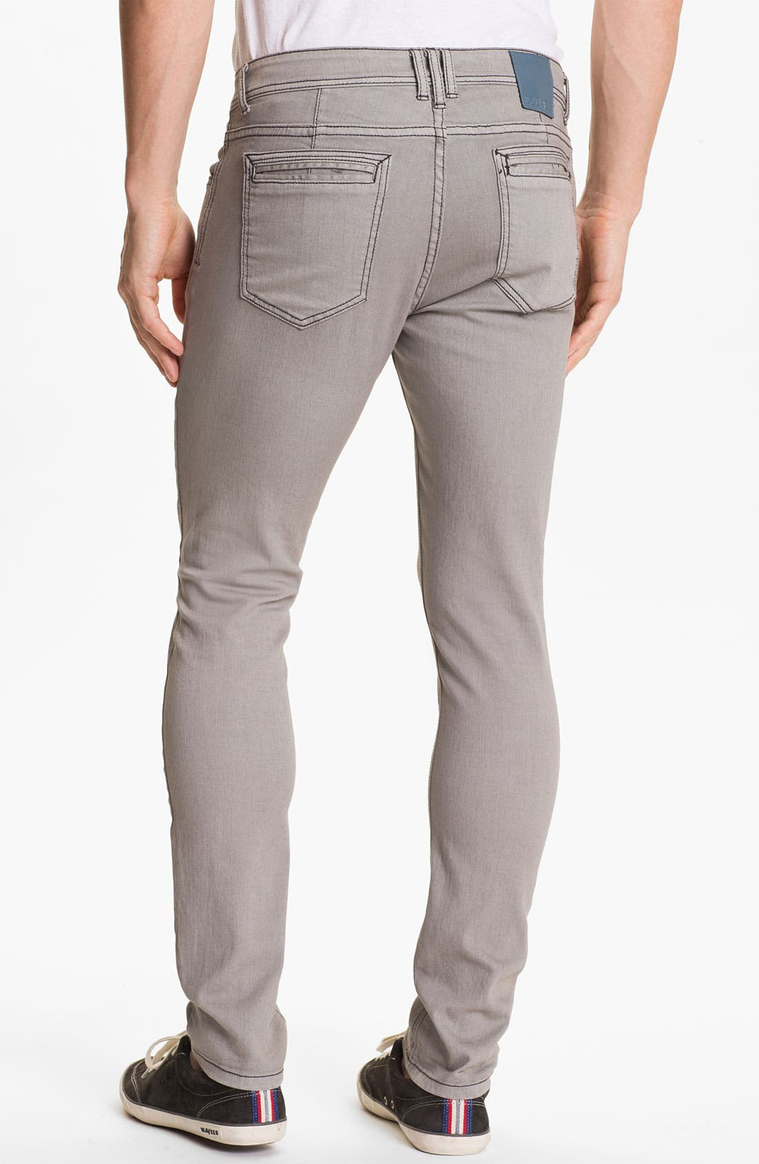 Alternate Image 1 Selected - Ezekiel 'Chopper' Slim Straight Leg Jeans (Light Grey)