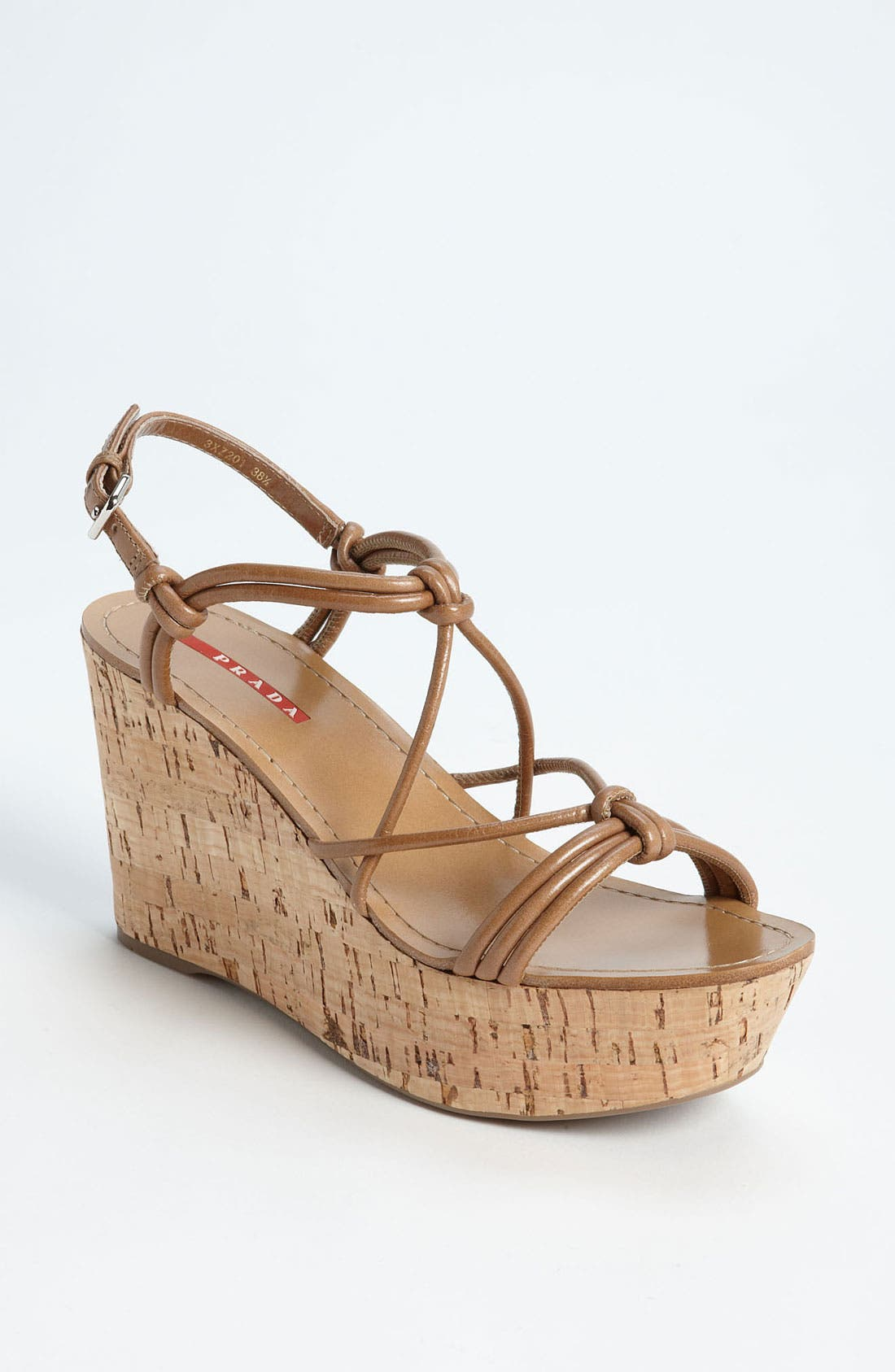 Alternate Image 1 Selected - Prada Cork Wedge Sandal