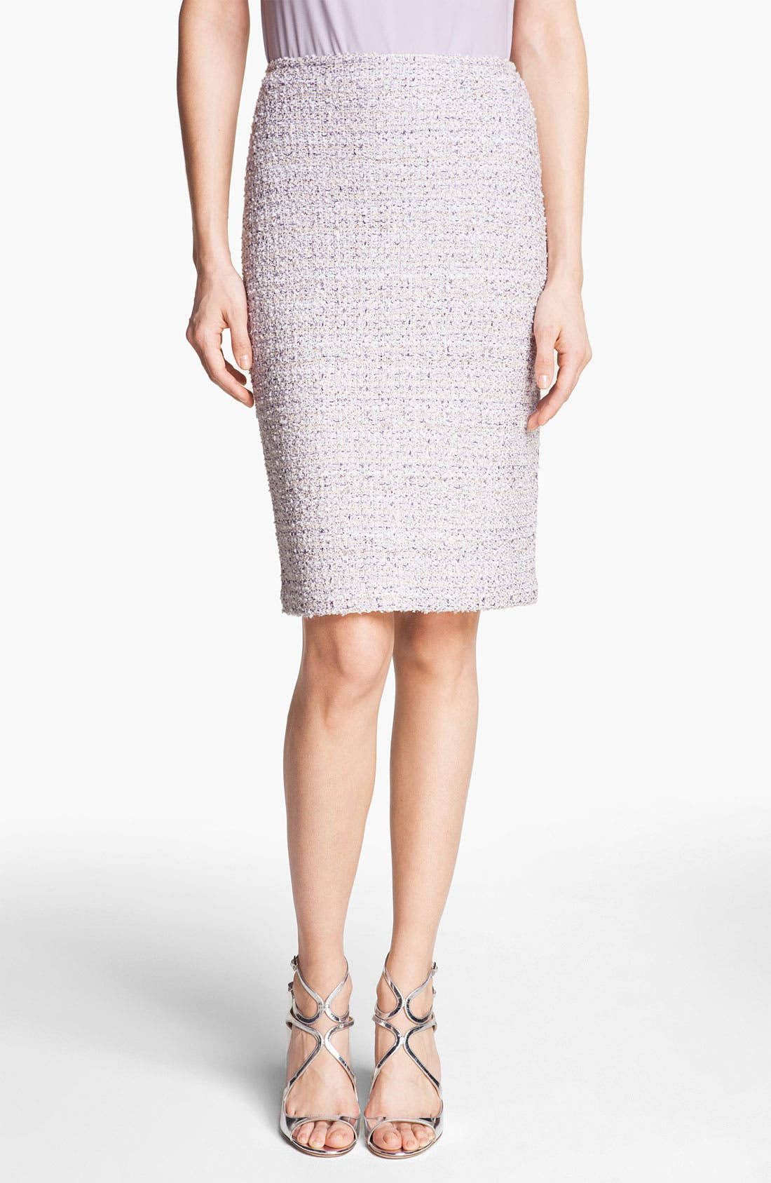 Tweed Pencil Skirt,                             Main thumbnail 1, color,                             Lilac Multi