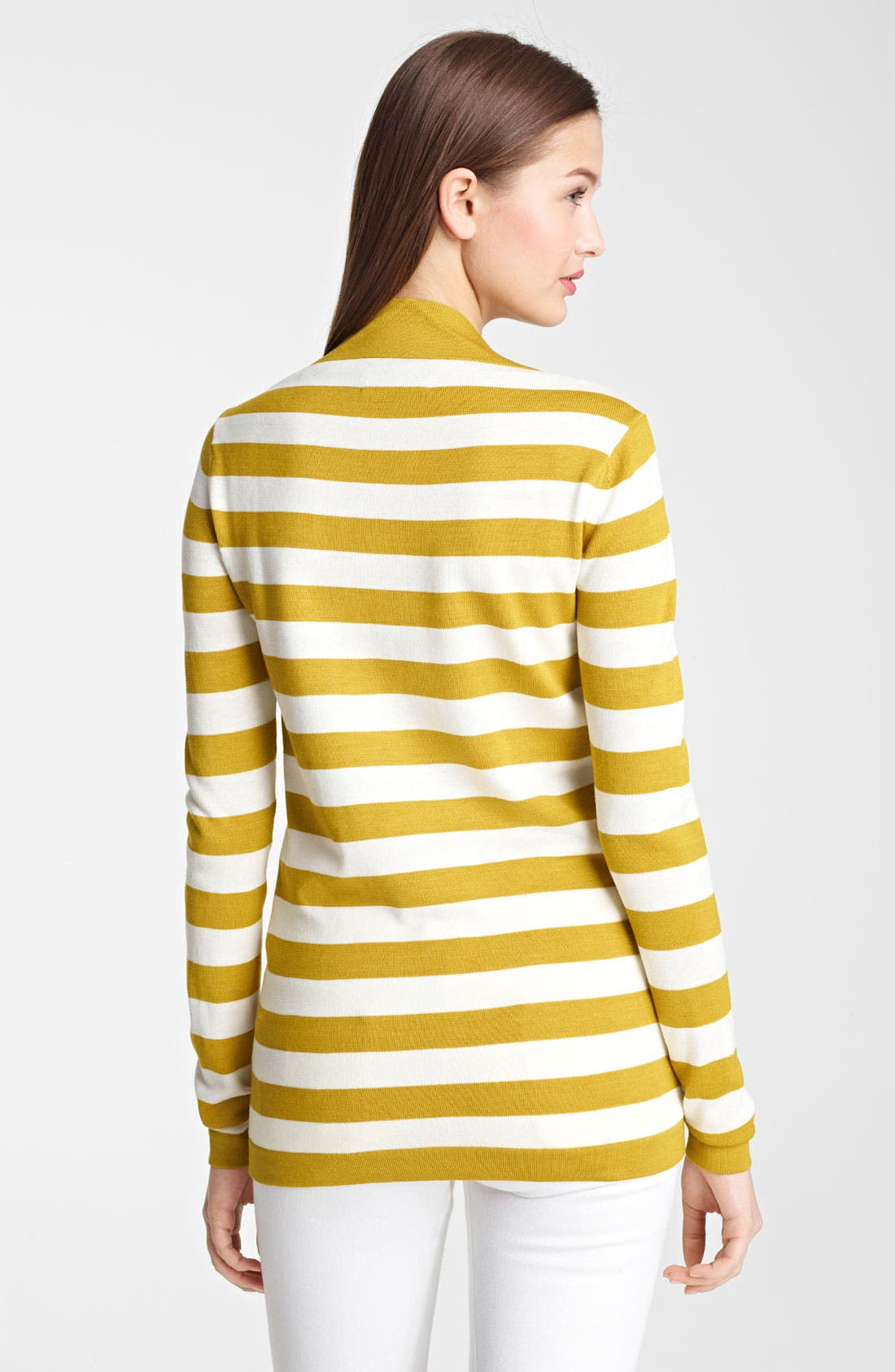 Alternate Image 2  - Burberry London Stripe Silk & Cotton Top