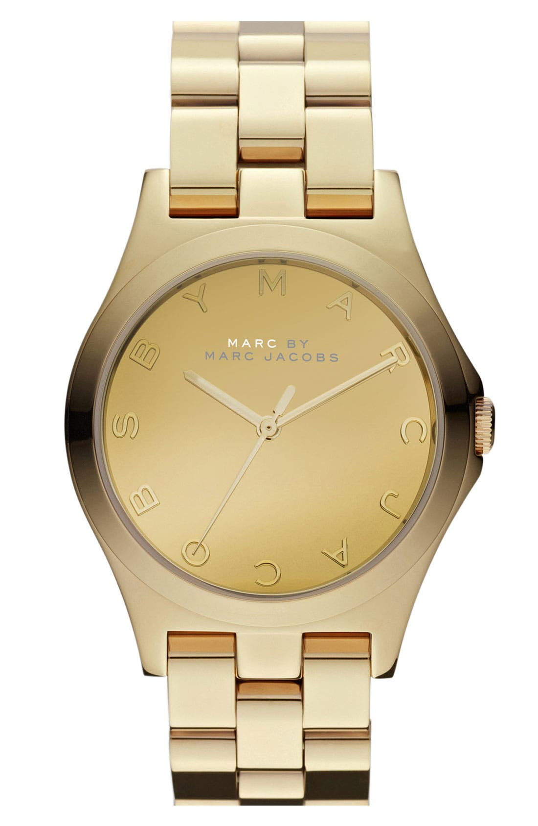 Main Image - MARC JACOBS 'Henry Glossy' Bracelet Watch, 36mm