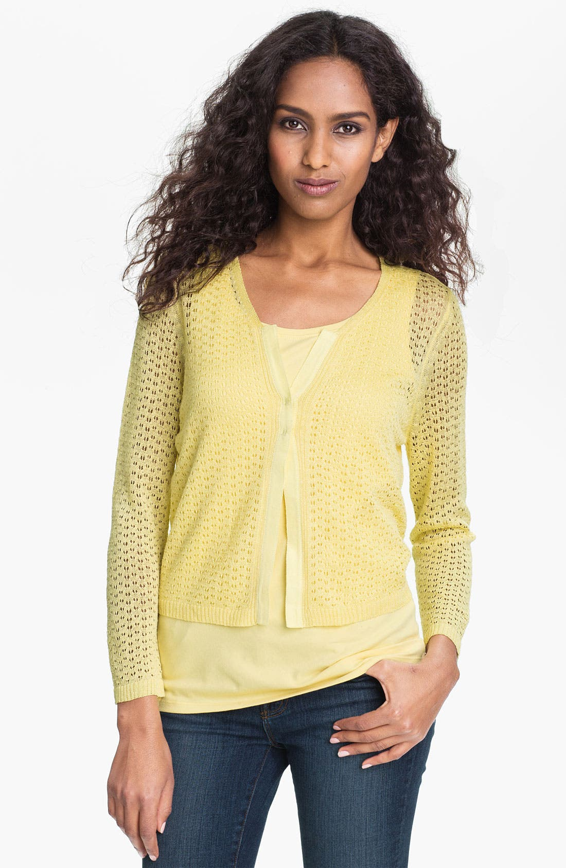 Main Image - Nic + Zoe 'Pretty Pointelle' Cardigan