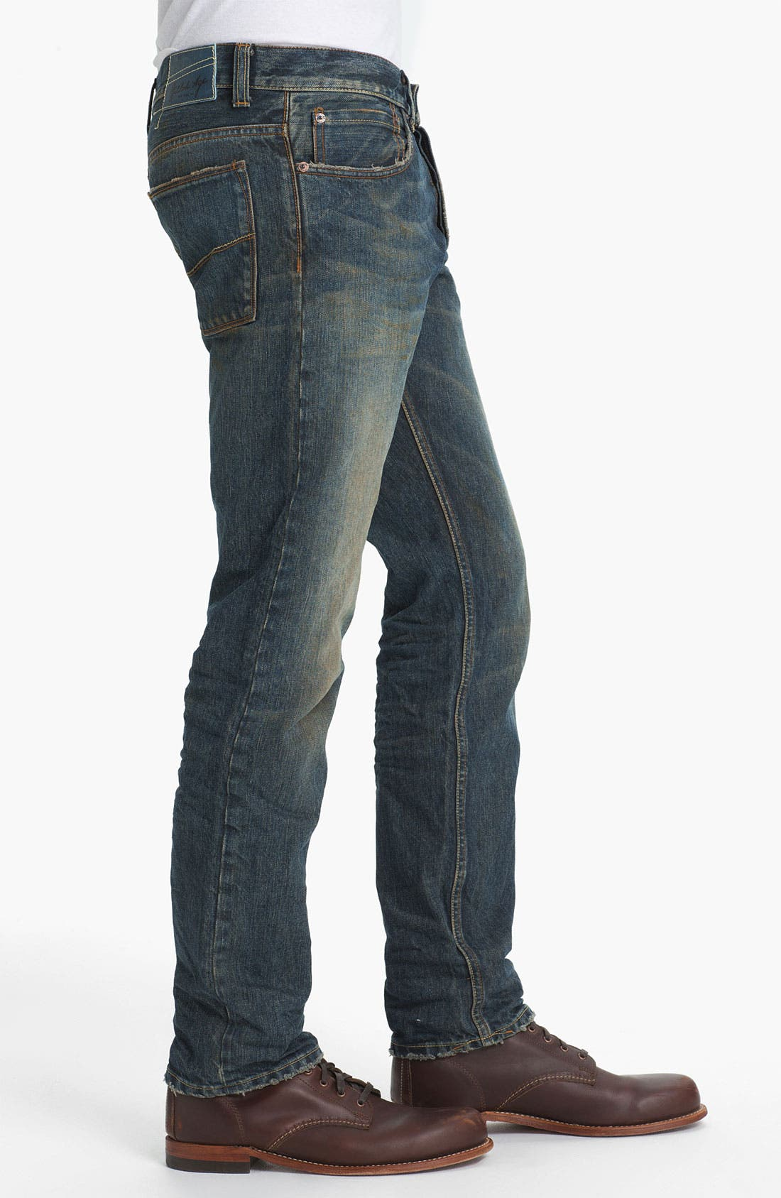 Alternate Image 3  - Gilded Age 'Baxten' Slim Straight Leg Jeans (Super Vintage)