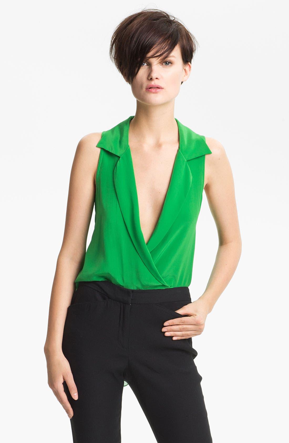 Alternate Image 1 Selected - Tracy Reese Silk Surplice Shirt